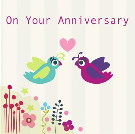 On Your Anniversary Card - White